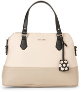 Nine West Beige & Mushroom Dealing Times Satchel