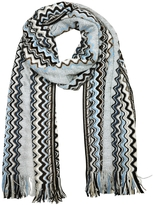 Missoni Zig Zag Viscose and Wool Lurex Long Scarf