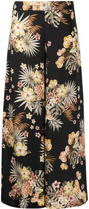 Liu Jo Floral Print Wide Trousers