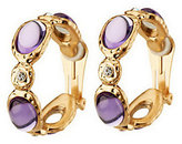 Kenneth Jay Lane Kenneth Jay Lane's Oval Cabochon Hammered Hoops