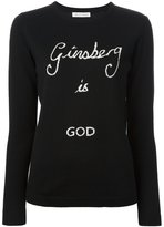 Bella Freud 'Ginsberg is God' sweater - women - Wool - S