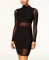 Material Girl Juniors' Illusion Mesh Bodycon Dress, Created for Macy's