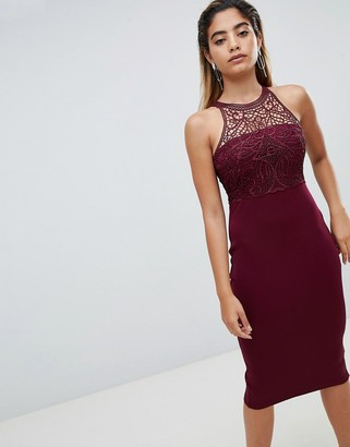 AX Paris Midi Pencil Dress With Lace Detail