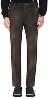 Lanvin Men's Checked Wool Slim Trousers