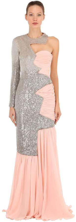 Moschino Chiffon & Sequins Dress