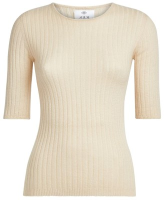 Allude Cashmere Ribbed Top