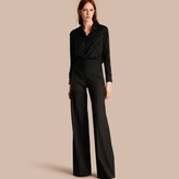 Burberry Wide-leg Wool Trousers
