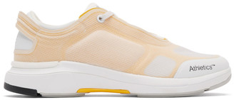 Athletics Footwear White and Yellow One Sneakers