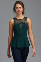 Dynamite Peplum Top with Lace