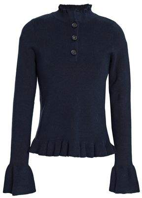 See by Chloe Ruffle-trimmed Cotton-blend Sweater