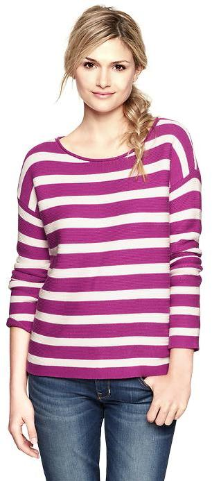 Gap Striped roll-edge sweater