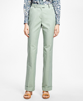 Brooks Brothers Wide-Leg Cuffed Cotton-Blend Pants
