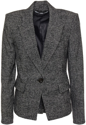 Veronica Beard Melvin Prince Of Wales Checked Jacquard Blazer
