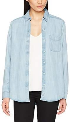 Eddie Bauer Women's Bluse in Jeans-Optik Blouse, Blue Bleached, S