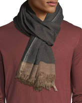 Brunello Cucinelli Cashmere/Silk Scarf with Tipping