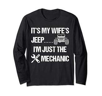 Mens It's My Wife's Jeep. I'm Just the Mechanic Long Sleeve T-Shirt