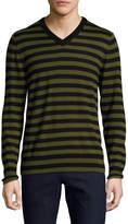 Trina Turk Men's Timothy Cotton Striped Sweater