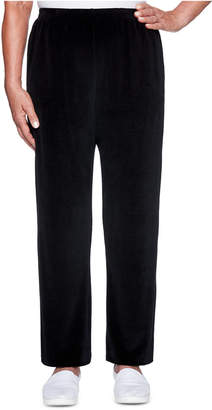 Alfred Dunner Petite Bright Idea Velour Pants
