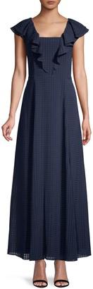 Donna Karan Checkered Fit-&-Flare Dress