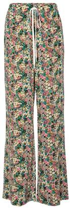 See by Chloe Floral silk wide-leg pants