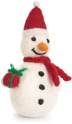 Harrods Felted Snowman Christmas Decoration