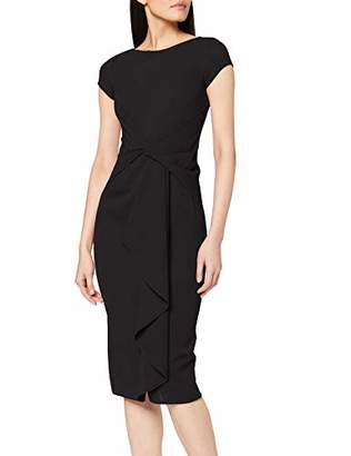 Dorothy Perkins Women's Short Sleeve Belted Crepe Dress,6 (Size:6)