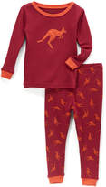 Maroon Kangaroo Pajama Set - Boys