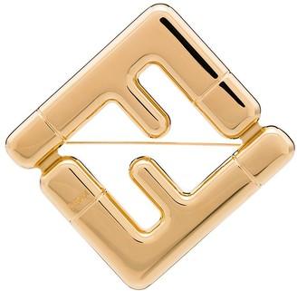 Fendi FF logo brooch