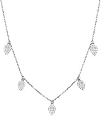 Kamaria Blessings Leaf Choker Necklace In Silver