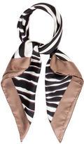 Valentino Zebra Printed Silk Scarf w/ Tags