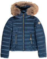 Moncler Solaire Down Jacket with Fur Hood