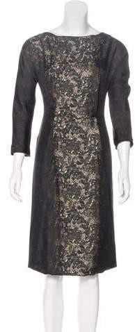 9136e06473 Prada Long Sleeve Dresses - ShopStyle