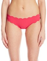Jessica Simpson Women's Under The Sea Scalloped Edge Hipster Bikini Bottom
