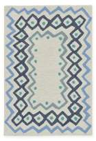 Liora Manné Capri Ethnic Border 1-Foot 8-Inch x 2-Foot 6-Inch Indoor/Outdoor Accent Rug in Blue