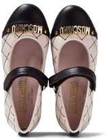 Moschino Black and Cream Branded Mary Janes