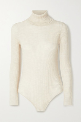 Madeleine Thompson Susan Ribbed Cashmere Turtleneck Bodysuit
