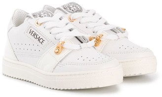 Versace Perforated Lace-Up Trainers