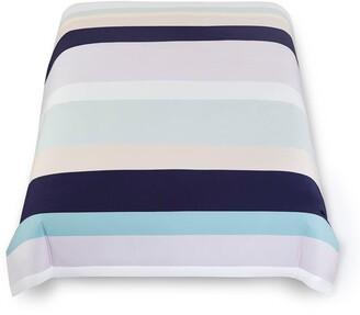 Kate Spade Dusk Stripe Comforter Set - Twin Xl - Squid Ink