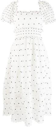 Self-Portrait Hibiscus lace dress