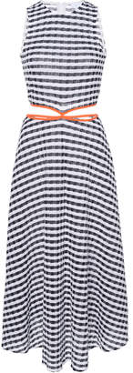 Flagpole James Striped Cotton-Blend Midi Dress