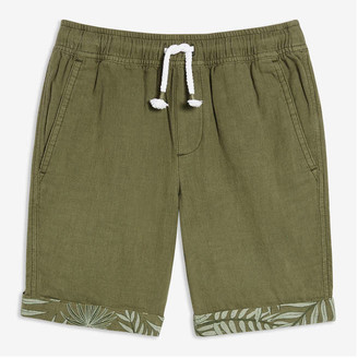 Joe Fresh Kid Boys' Rolled Cuff Shorts, Army Green (Size S)