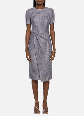 St. John Tweed Wrap Detail Dress