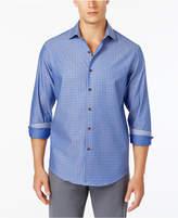 Tasso Elba Men's Grid-Pattern Shirt, Created for Macy's