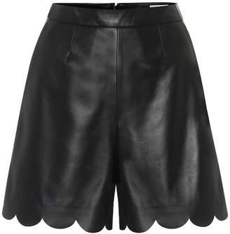 RED Valentino scalloped leather shorts