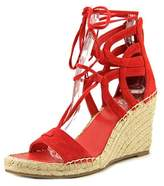 Vince Camuto Tannon Women Open Toe Suede Red Wedge Sandal.