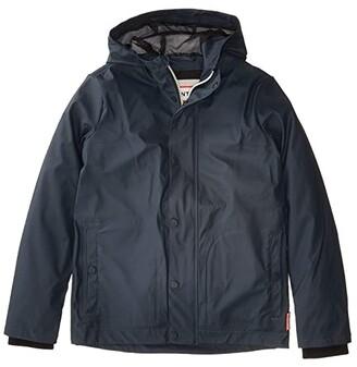 Hunter Original Lightweight Rubberised Jacket (Big Kids)) (Navy) Kid's Coat