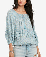 Denim & Supply Ralph Lauren Floral-Print Gauze Top