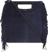 Maje The M suede cross-body bag