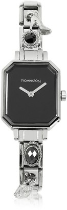 Nomination Silver Plated Stainless Steel Composable Women's Watch w/Black Dial