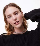 LOFT Pave Twist Collar Necklace